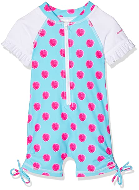 Snapper Rock Kids Baby Girls /& Toddlers UV Protecting UPF 50 Plus Short Sleeve Swimsuit For Beach Bath /& Pool