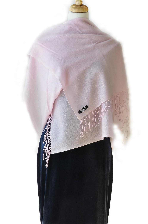 blueshing Pink Cashmere Shawl Scarf Handmade 100% Pure Lightweight Oversized