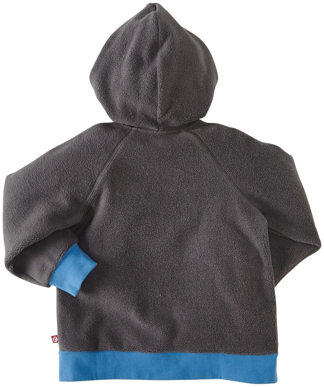 Zutano Little Boys Cozie Fleece Contrast Hoodie - Gray 2T Toddler