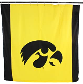 College Covers NCAA Iowa Hawkeyes Hawkeyesbig Logo Shower Curtain Yellow