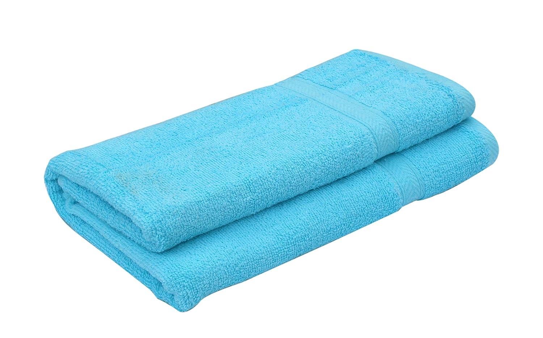 Livingtex Colorful Cotton Bath Towels 27x54 inch (Light Orange)