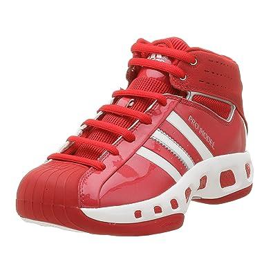 adidas uomini (modello s basket scarpa, università di rosso / r. bianco, 18