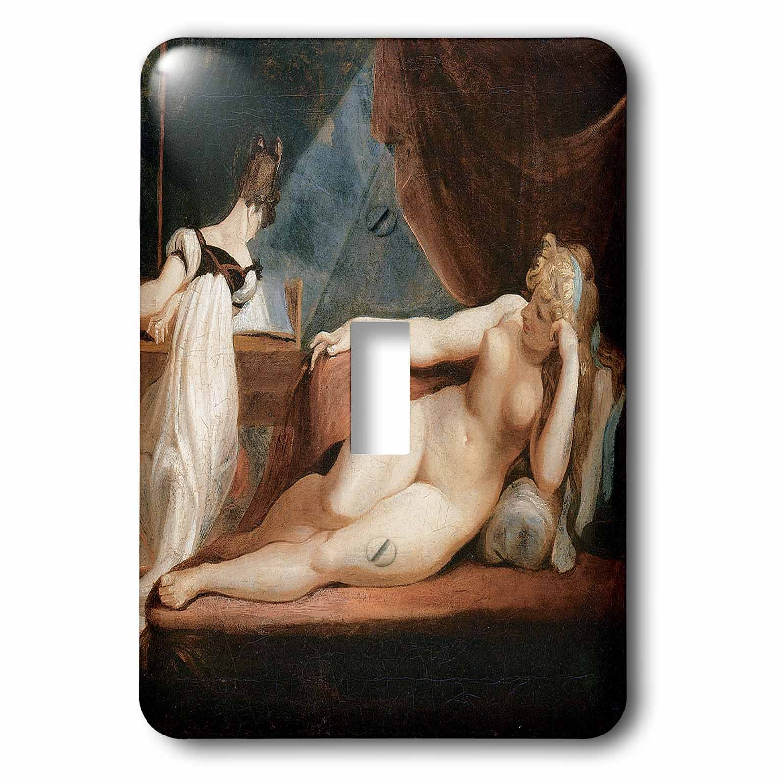 3dRose LLC 3dRose LLC lsp_127984_1 Naked Woman and Woman Playing the Piano by Johann heinrih Fussli - Single Toggle Switch