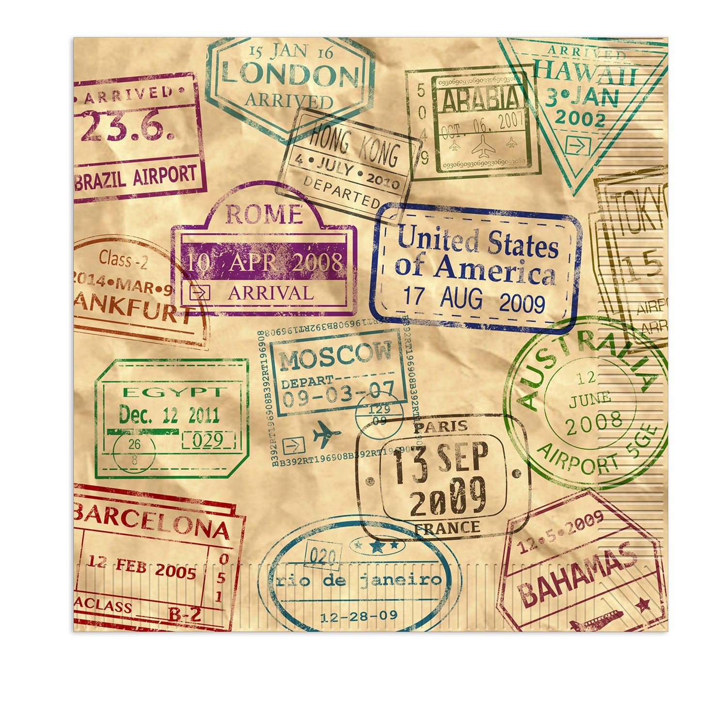 The Beistle 59983 Around The World Luncheon Napkins44; Multicolored B0797BXG3N