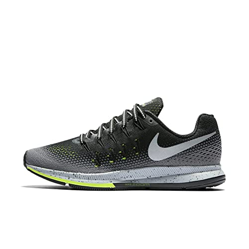 picnic rumor Distraer  Buy Nike Air Zoom Pegasus 33 Shield Black/Dark Grey/Stealth/Metallic Silver  Womens Running Shoes at Amazon.in