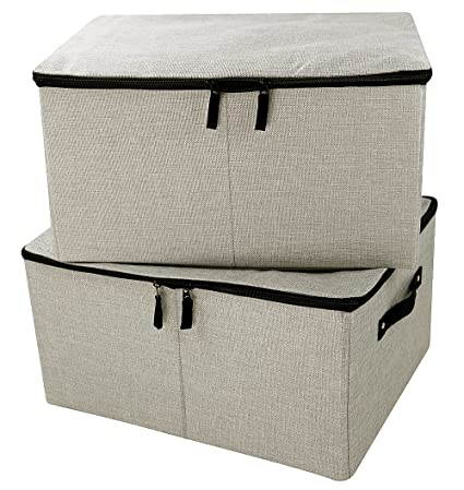 Iwill CREATE PRO Jumbo Foldable Linen Storage Containers, Tide Up Your  Closet, Convenient Storage