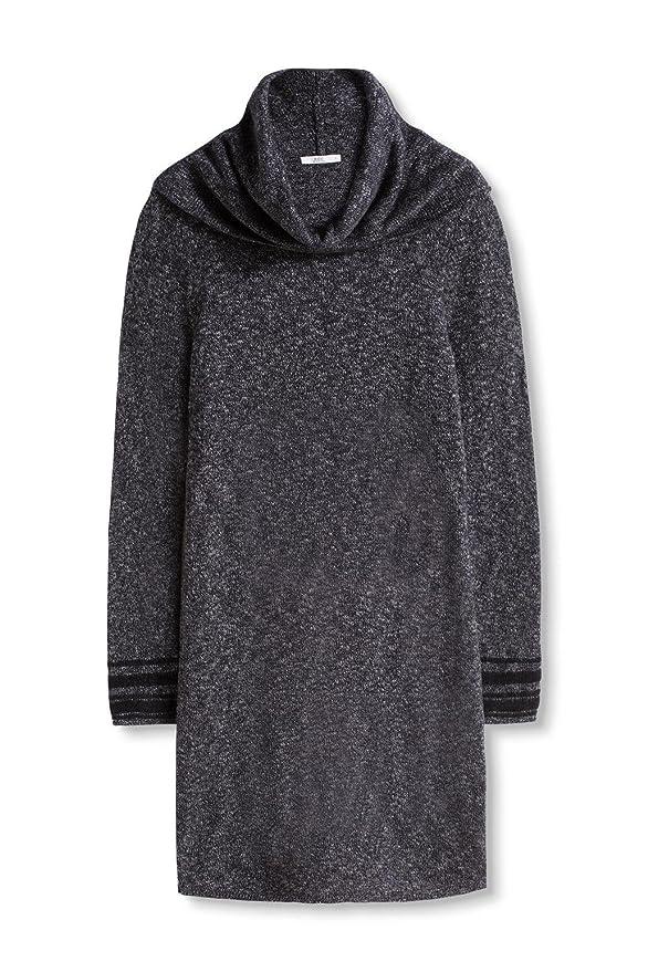 edc by ESPRIT Damen Kleid 096CC1E024, Schwarz (Black 001), 40  (Herstellergröße: L): Amazon.de: Bekleidung