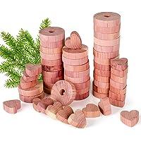 QUARED Madera de Cedro, Repelente Natural 54 Piezas Juego de Repelente contra de Polilla de Cedro Natural para Ropa…