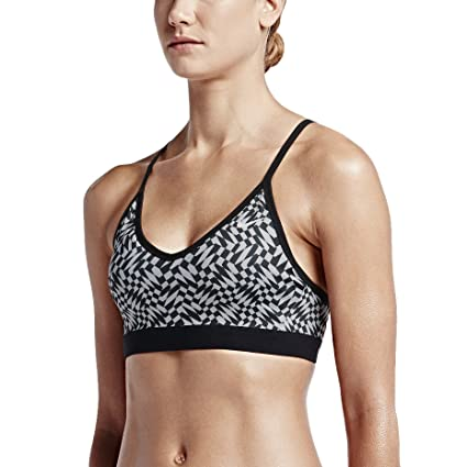 103bd504e1 Amazon.com  Nike Pro Indy Checkered Women s Sports Bra  Sports ...
