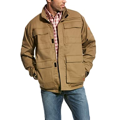 Amazon Com Ariat Men S Fr Canvas Stretch Jacket Clothing