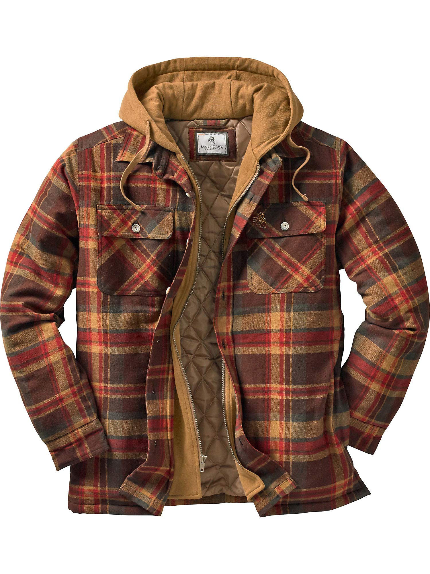 Legendary Whitetails Maplewood Hooded Shirt Jacket, Maplewood Plaid, XXX-Large Tall by Legendary Whitetails