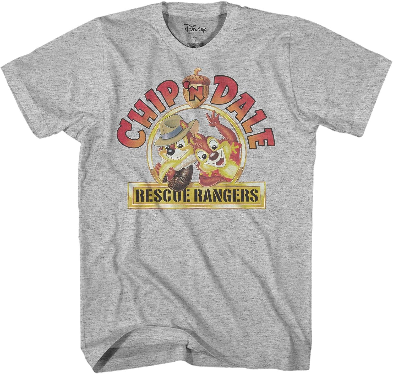Disney Rescue Rangers - Camiseta para hombre, diseño de Chip y Dale 90 - Gris - XXX-Large: Amazon.es: Ropa y accesorios