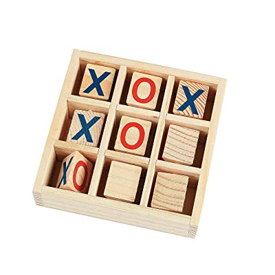 Fun Express - Wooden TiC-TaC-Toe Game - Toys - Games - Outdoor & Travel Game Sets - 1 Piece: Toys & Games