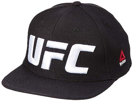 Reebok UFC Flat Peak Cap Gorra, Hombre, Negro, Talla Única