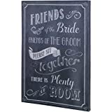 "Lillian Rose SI505 SB 16.5""X11.75"" Black & White Wedding Ceremony Seating Sign"