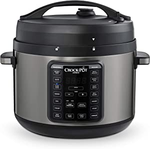 Crock-pot 2097590 10-Qt. Express Crock Multi-Cooker with Easy Release Steam Dial, 10QT, Black Stainless (Renewed)