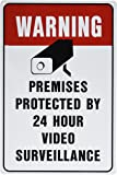 VIDEO SURVEILLANCE Sign Property Protected 24 Hour security protection warning