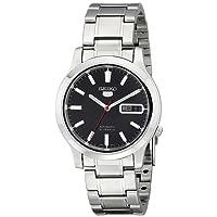 Seiko Men's SNK795 Seiko 5 Automatic Black Dial Stainless Steel Bracelet Watch