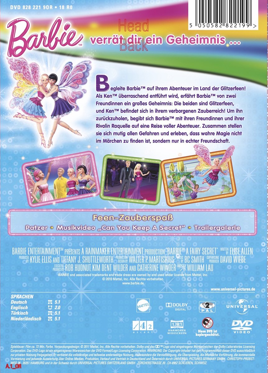 Barbie Die geheime Welt der Glitzerfeen Amazon Todd Resnick DVD & Blu ray