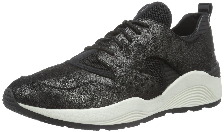 Geox D OMAYA Plus a, Zapatillas Para Mujer 40 EU|Schwarz (Gun/Blackc1223)