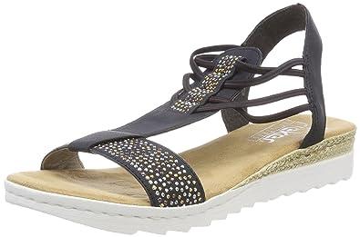 verkauf uk ausgewähltes Material UK Verfügbarkeit Rieker Damen 63062 Geschlossene Sandalen