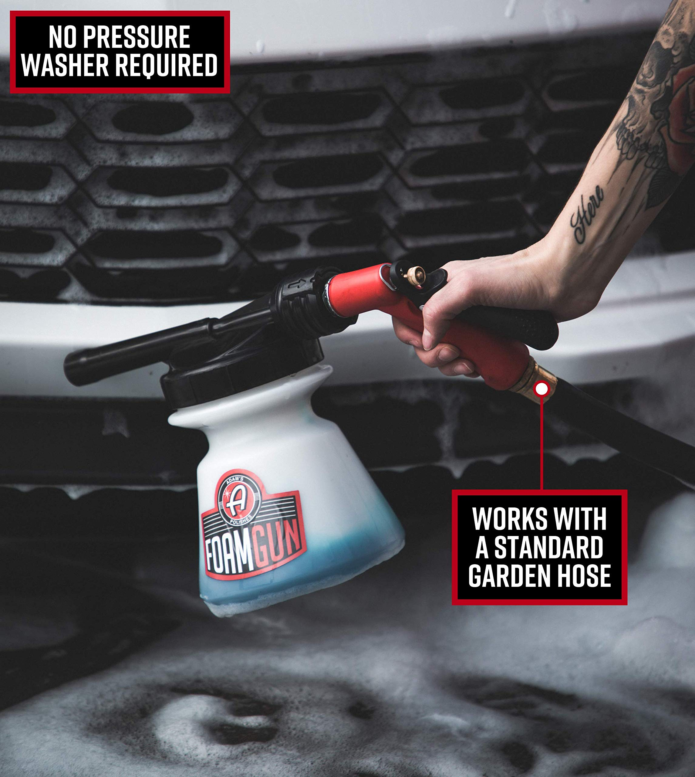 Adam's Foam Gun & Ultra Foam Gallon - Use with Any Car Wash Soap & Garden Hose for Thick Suds - Detailing Tool Does Not Require Pressure Washer & Won't Remove Wax Sealant by Adam's Polishes (Image #4)