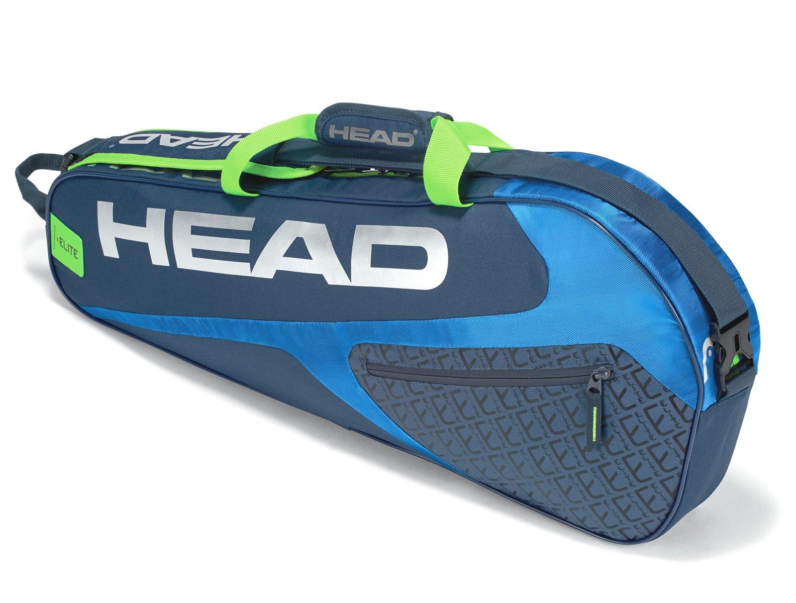 HEAD Elite Pro 3 Racquet Racquet Bag (Blue/Green)