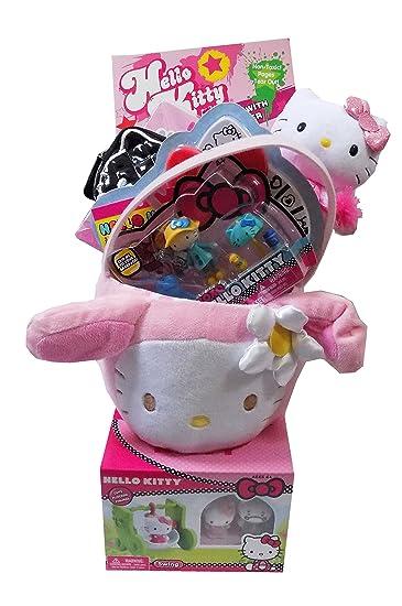 Amazon hello kitty plush pink bunny easter gift basket hello kitty plush pink bunny easter gift basket filled with ty cheerleader hello kitty flocked negle Gallery