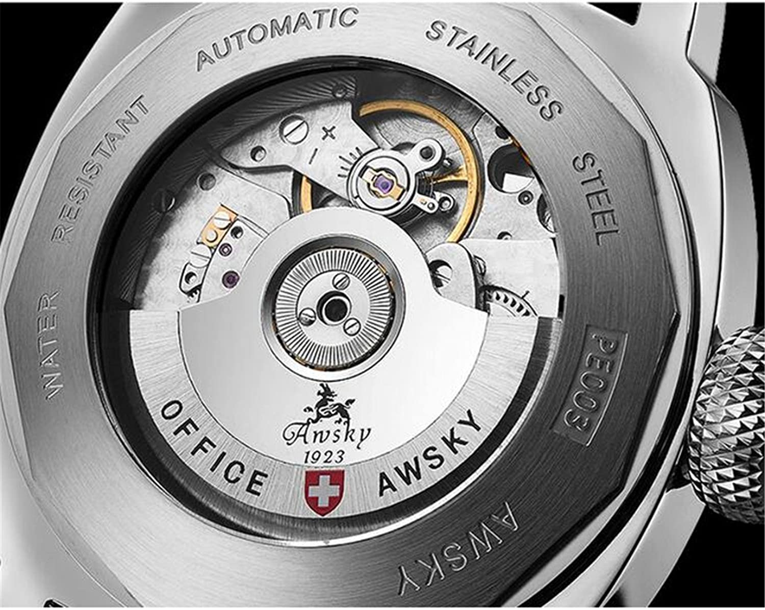 Amazon.com: Awsky Mens Automatic Watch Mechanical 25Jewels Sapphire Military Wristwatch With Compass Luxury: Watches