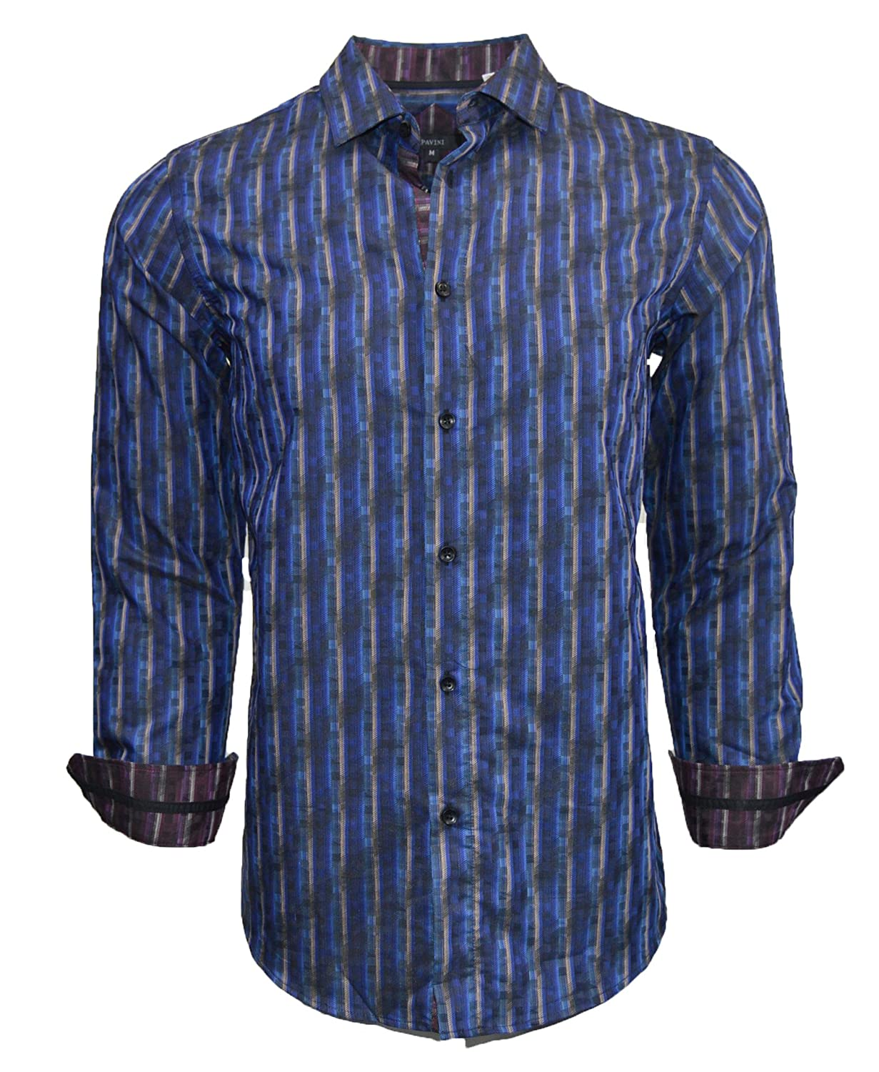 PAVINI Long Sleeve Button Down Woven Shirt Small
