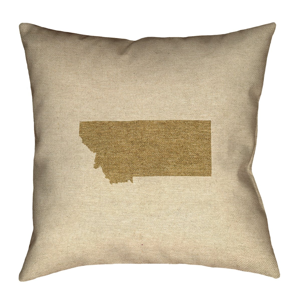 ArtVerse Katelyn Smith 18 x 18 Cotton Twill Double Sided Print with Concealed Zipper /& Insert Montana Canvas Pillow