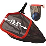 Pool Net for Cleaning - ProTuff: Unlimited Free Replacements - 3X Faster Pro Grade Skimmer Rake for Swimming Pool Leaf, Small