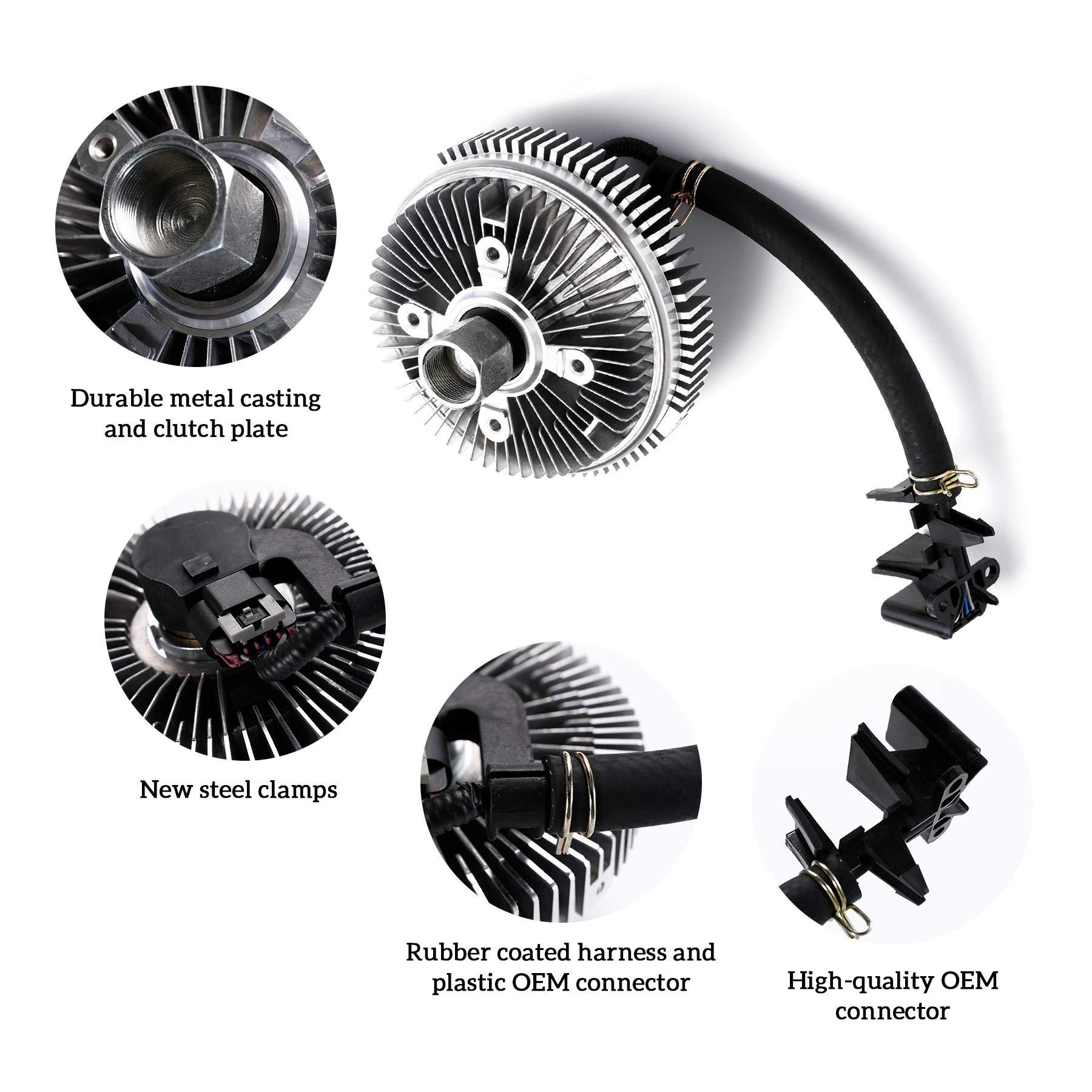12-G3200 Electric Fan Clutch for 2003 Trailblazer Envoy Isuzu Ascender 4.2L 5.3L