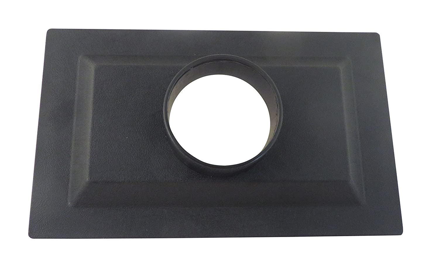 8 x 13.5 x 2.5 ABS Plastic Flange with 4 OD Opening for Dust Collector Systems 73475