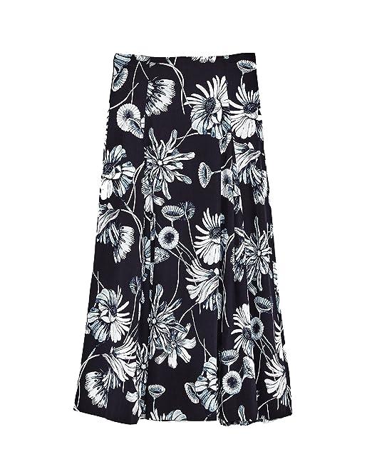 2bb6d47de9 Zara Women Floral print midi skirt 8172/763 (Medium): Amazon.ca ...