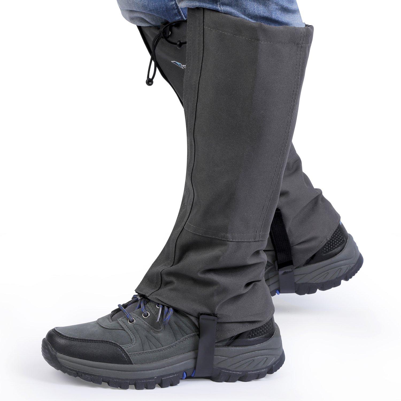 OUTAD Outdoor Gamaschen, 1 Paar Wasserdichte Atmungsaktive Bein Gamaschen für Outdoor-Hosen zum Wandern, Klettern und Schneewandern Jagd