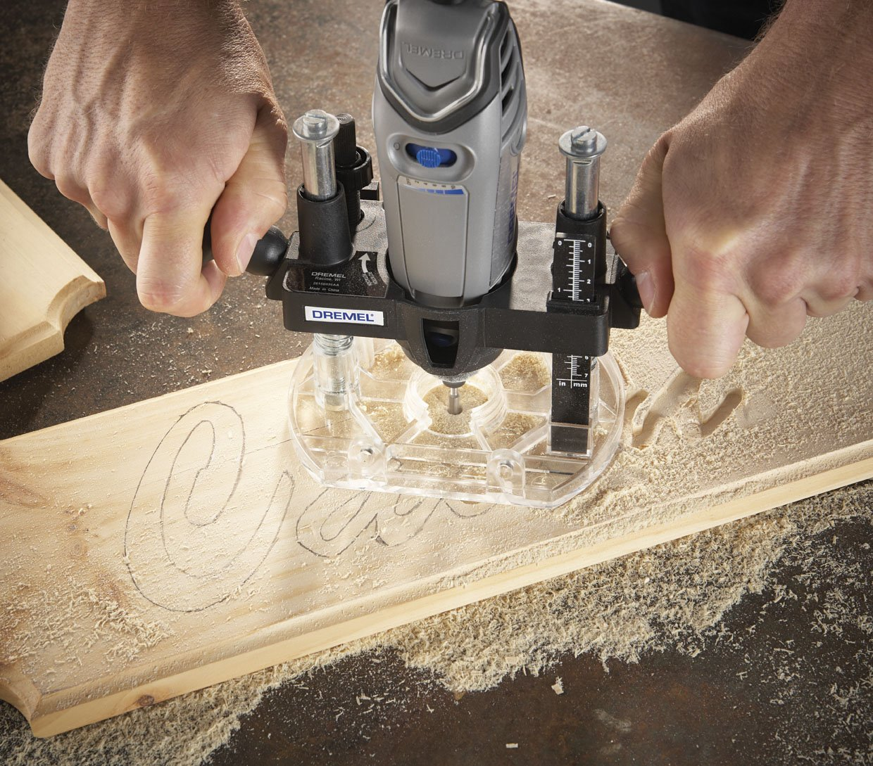 Dremel 335 01 plunge router attachment power rotary tool dremel 335 01 plunge router attachment power rotary tool accessories amazon greentooth Images
