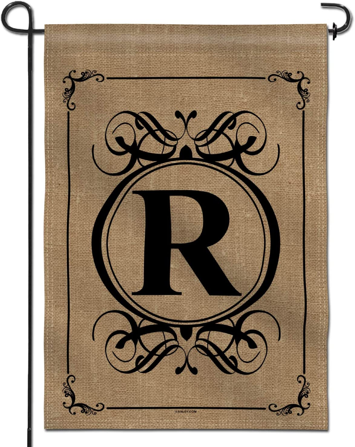 Anley Classic Monogram Letter R Garden Flag, Double Sided Family Last Name Initial Yard Flags - Personalized Welcome Home Decor - Weather Resistant & Double Stitched - 18 x 12.5 Inch