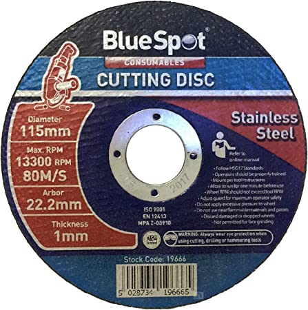 Metal Angle Grinder 115 x 22.2mm STAINLESS STEEL CUTTING DISC ULTRA THIN 1mm
