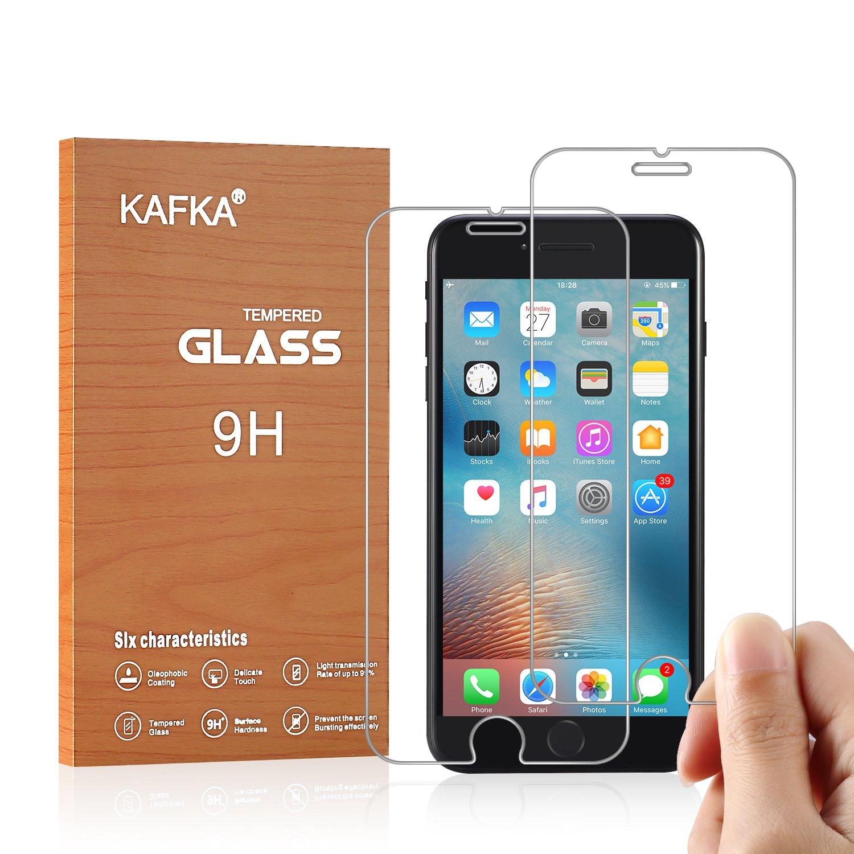 "iPhone 8, 7, 6S, 6 Screen Protector KAFKA Premium Tempered Glass Screen Protector for Apple iPhone 8, 7, iPhone 6S, iPhone 6 [4.7""inch] 2017 2016, 2015 (2-Pack)"