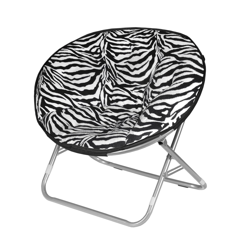 Amazon Urban Shop Zebra Faux Fur Saucer Chair Toys & Games