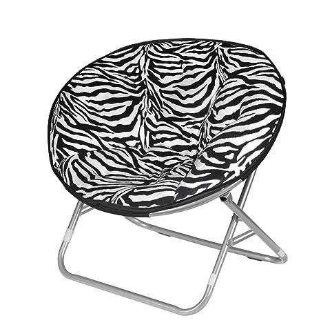 Sensational Urban Shop Zebra Faux Fur Saucer Chair Pabps2019 Chair Design Images Pabps2019Com