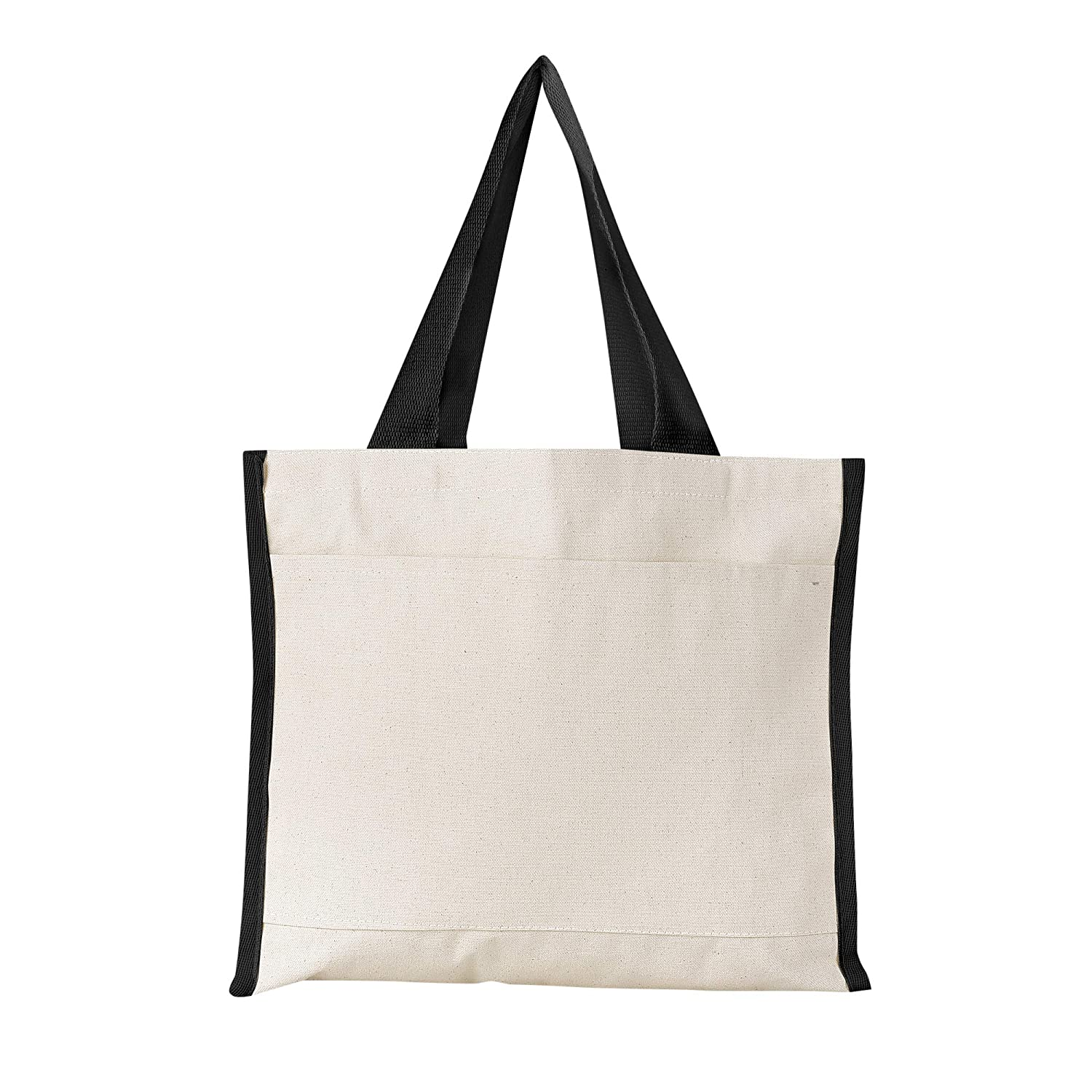 100%の保証 (6, Bags, Natural) - Heavy Canvas Canvas Reusable Wholesale Tote Bags with Front Pocket, Side and Bottom Gussets, Fancy Looking Plain Tote Bags, 100% Natural Canvas Strong Wholesale Tote Bags by BagzDepot (6, Natural) B06XDZ198M ブラック ブラック|6, RindaRinda:5e635b63 --- diesel-motor.pl