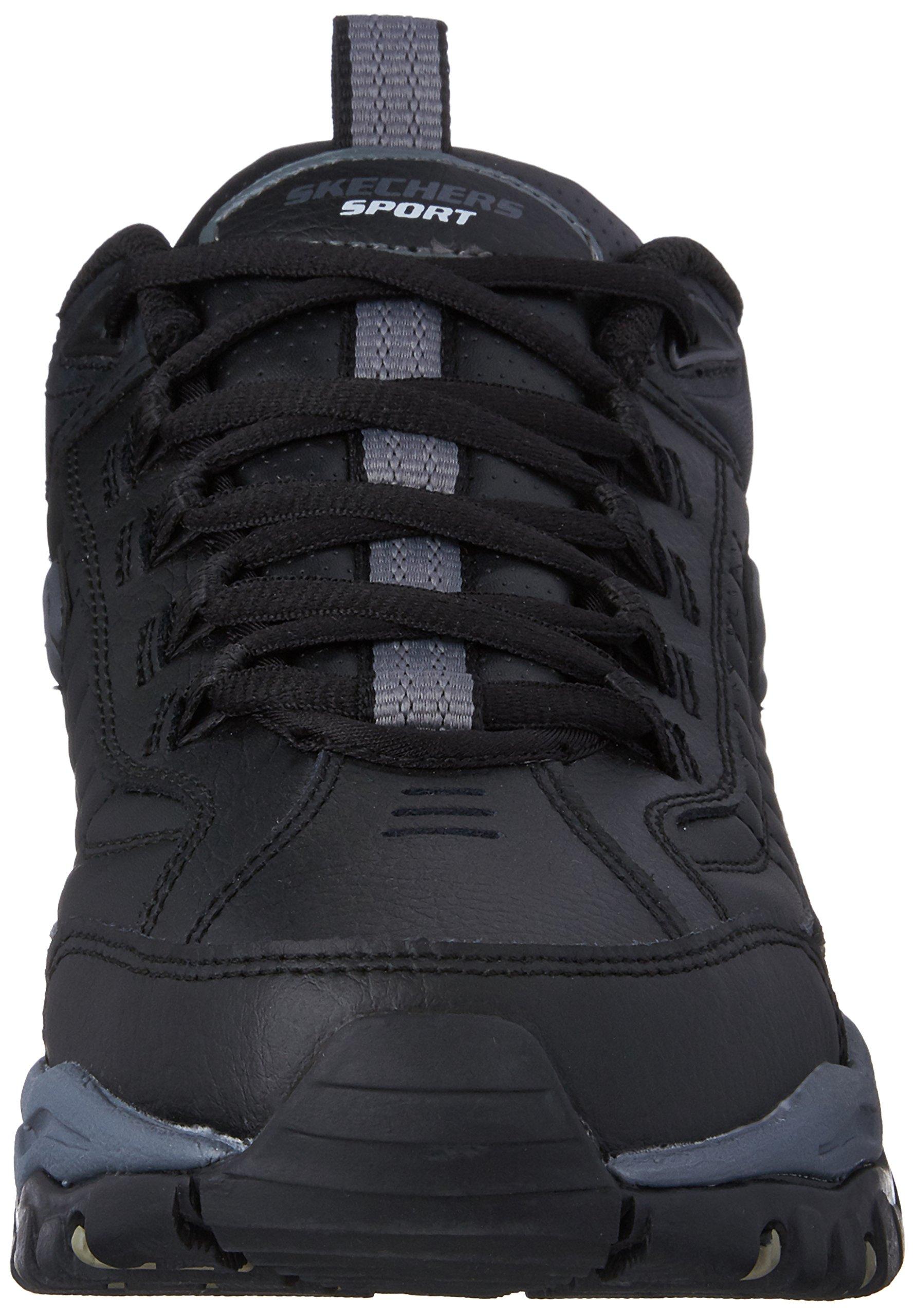 Skechers Men's Energy Afterburn Lace-Up Sneaker,Black/Gray,14 M US by Skechers (Image #4)