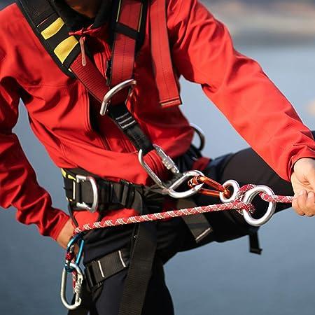 TRIWONDER Descensor de Escalada Aluminio Anillo 35KN Rappel Figura 8 Accesorio Escalada al Aire Libre