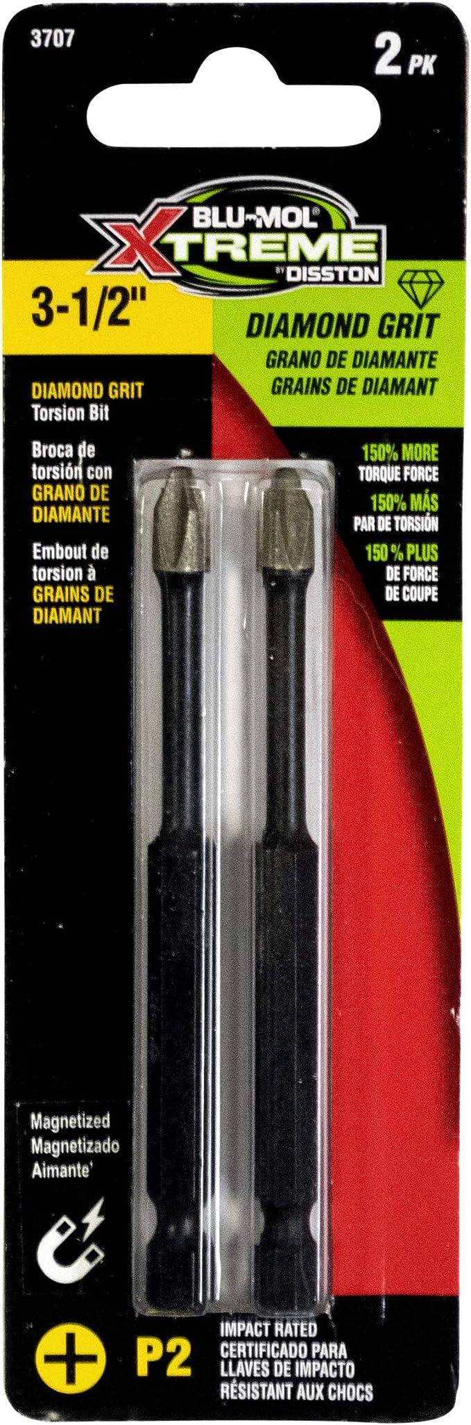 2-Pack E0103730 1 inch Disston Diamond Grit Screwdriving Bit 30 Torx