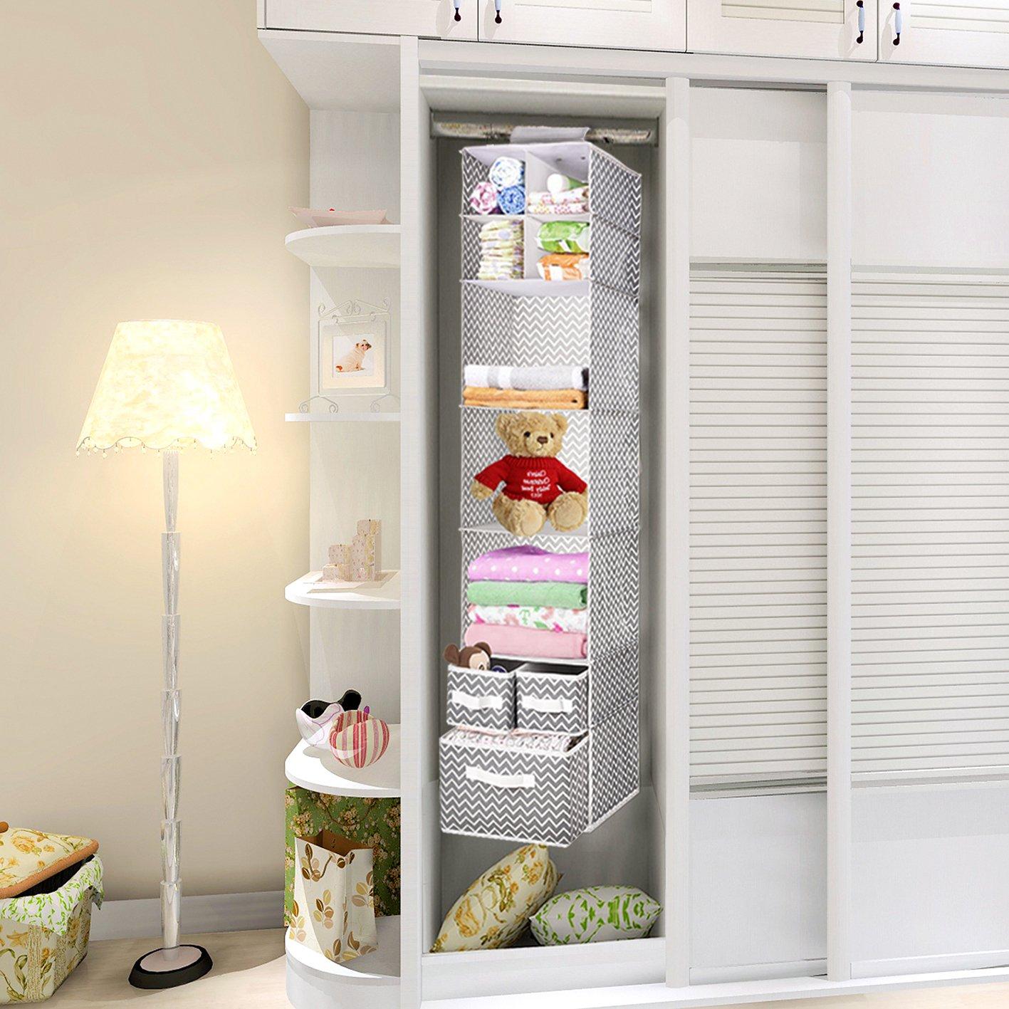 Amazon.com: MaidMAX - Organizador de armario colgante: Home ...