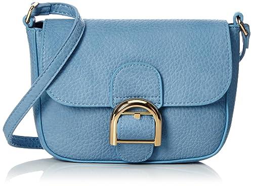 Pieces Pcluna Cross Body, Sacs portés épaule femme, Blau (Dusk Blue), 5x14x19 cm (L x H P)