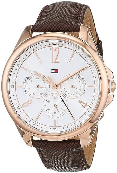 Tommy Hilfiger Reloj Multiesfera para Mujer de Cuarzo con Correa en Cuero 1781823: Tommy Hilfiger: Amazon.es: Relojes