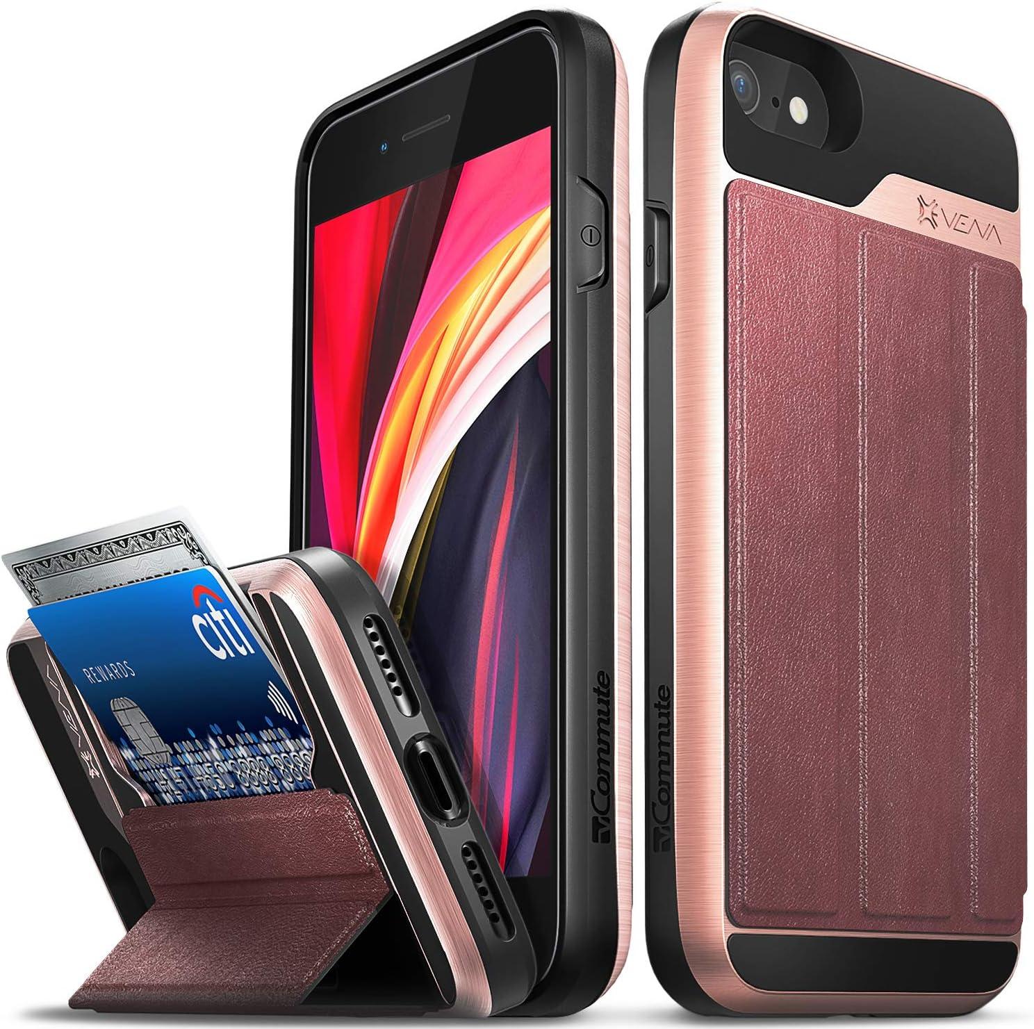 Vena vCommute Wallet Case Compatible with Apple iPhone SE 2020 / iPhone 8 7 (4.7